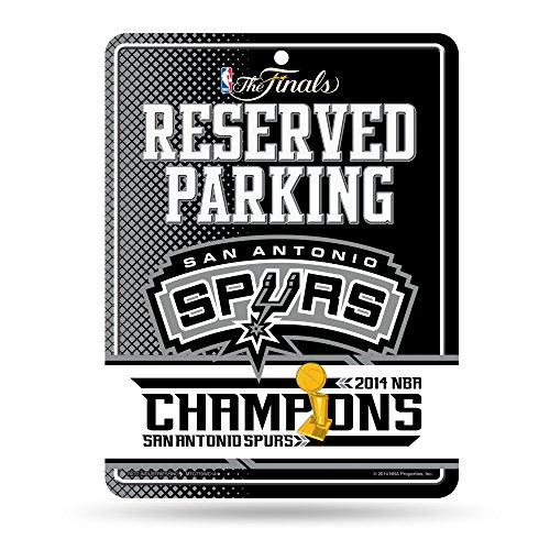 2014 San Antonio Spurs NBA Champions High-Res Metal Parking Sign by Rico