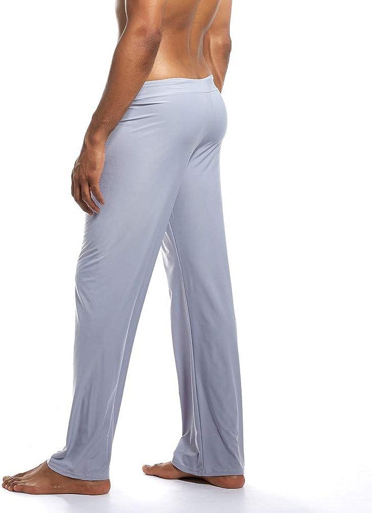 VPASS Pantalones Hombre,Pantalones de Yoga Color S/ólido Moda Pop Casuales Pants Trend Largo Pantalones Dise/ño de Personalidad Ropa de Dormir