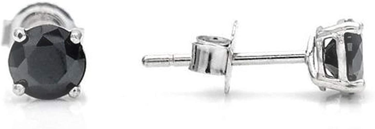 0.18CT Brilliant Round Cut Halo Earrings 14k Solid White Gold Screwback Studs