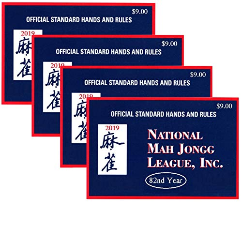 National Mah Jongg League 2019 Large Size Card - Mah Jongg Card - 4 Pack