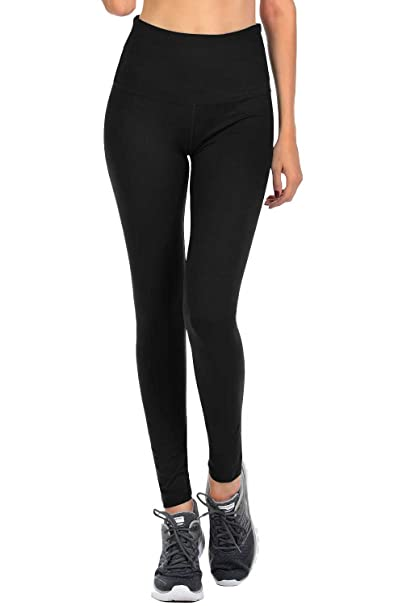 37fa7fefda4b VIV Collection Signature Leggings Yoga Waistband Soft w Hidden Pocket (S,  Black)