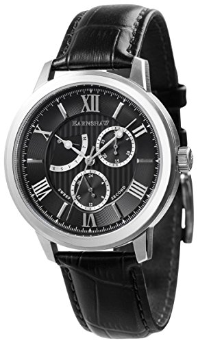 Thomas Earnshaw Mens The Cornwall Sweep Retrograde Watch - Black/Silver