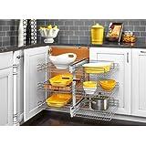 Rev-A-Shelf 5psp3–15SC 5psp Series 66,7cm Wide tres pisos Ciegos esquina Pull Out,, Cromado