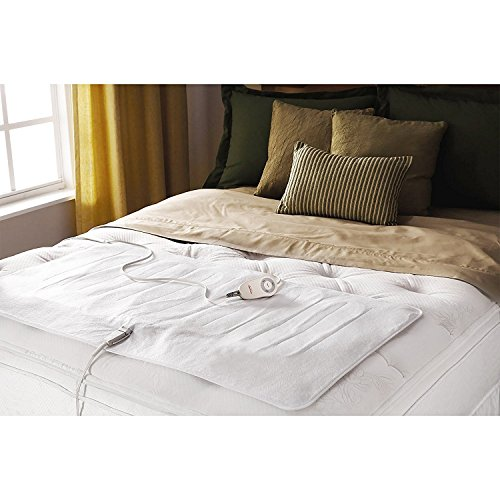 Sunbeam Twin Electric Blanket - Sunbeam Comfy Toes Heated Foot Warming Mattress Pad, Twin/Full