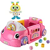 Fisher-Price Laugh & Learn Musical Smart Stages Crawl Around Kids Learning Car Toys for Girls with Groove & Glow BeatBo Toy- Pink