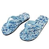 Women Flip-Flops, Shybuy Women Summer Camo Beach Sandals Slipper Indoor Outdoor Flip-Flops (6.5, Blue)