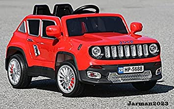 ride on kids electric car jeep renegade model hp5688 red