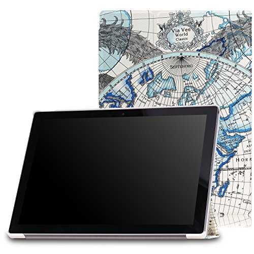 MoKo Google Pixel C Case - Slim Lightweight Smart-shell Stand Cover Case with Auto Wake / Sleep for Google Pixel C 10.2 Inch 2015 Tablet, Map F
