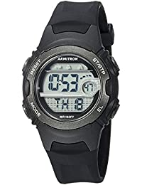 Womens 45/7088BLK Digital Chronograph Black Resin Strap Watch