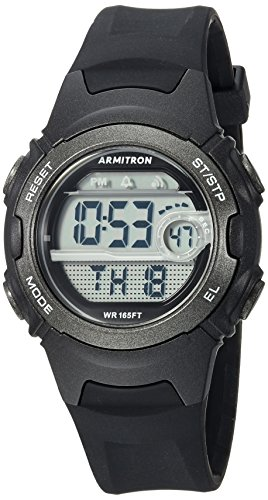 Armitron Sport Women's 45/7088BLK Digital Chronograph Black Resin Strap (Womens Digital Sport Watch)