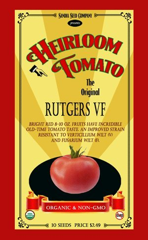 Rutgers Heirloom Tomato - 10 Seeds - Organic and non-GMO