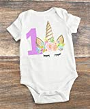 Unicorn 1st Birthday Party Outfit 12-18 Month - Smash Cake Birthday Party - 1st Birthday Unicorn Theme Party