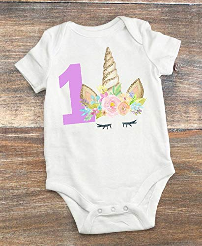 Unicorn 1st Birthday Party Outfit 12-18 Month - Smash Cake Birthday Party - 1st Birthday Unicorn Theme Party ()