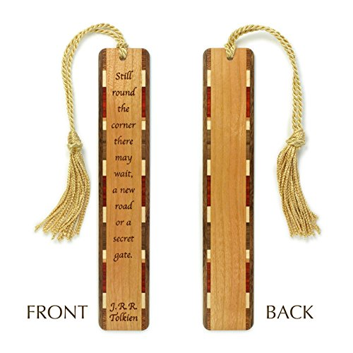 J.R.R. Tolkien Quote - Secret Gate - Engraved Wooden Bookmark with Tassel - Personalized version also available - search (Unique Personalized Bookmarks)