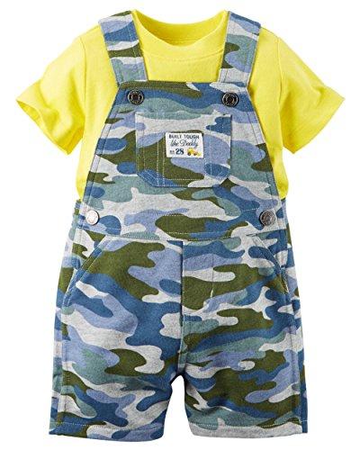 Carter's Baby Boys 2-Piece Shirt and Shortalls Set - 6 Months