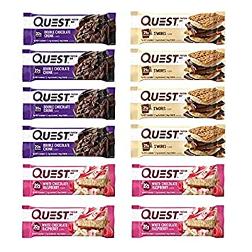Quest Nutrition Protein Bar Adventure Variety Pack. Low Carb Meal Replacement Bar w 20g Protein. High Fiber, Soy-Free, Gluten-Free 24 Count