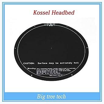 Amazon com: 3D Printer - kossel Rostock Delta Circular hot Bed PCB