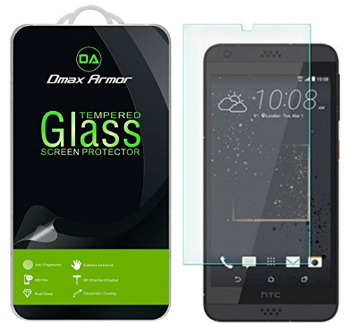 Dmax Armor [2-Pack] for HTC Desire 530/550 / 555 Screen Protector, [Tempered Glass] 0.3mm 9H Hardness, Anti-Scratch, Anti-Fingerprint, Bubble Free, Ultra-Clear