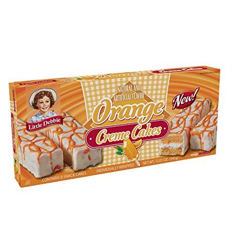 (Little Debbie Orange Creme Cakes 12.01oz [One Box with 8 Snack Cakes])