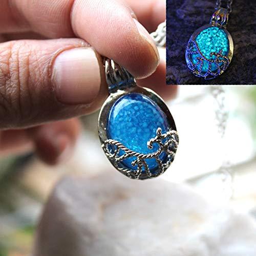 KaitoKyd1412 Pendant Necklace The Vampire Diaries Necklace Luminous Stone Katherine Pierce Moonstone Pendants Necklaces