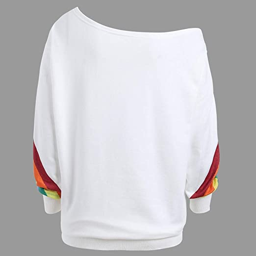 Camisas de Manga Larga Flojas Ocasionales de Las Mujeres ...