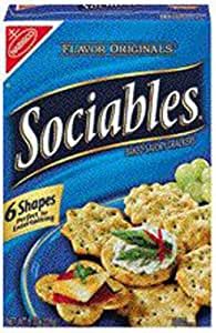 Nabisco Sociables Oven Baked Crackers - 6 Pack