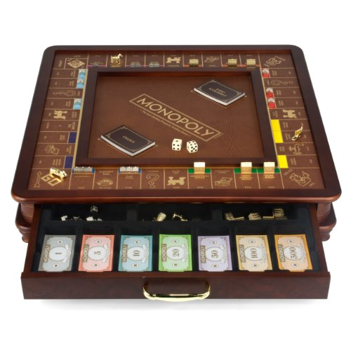 Monopoly Luxury Edition board game (Wood Monopoly)