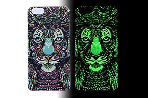 - (Case for Iphone 6 Plus/5.5 inch) Bon Venu Night-luminous products New Arrival Creative Luxury Life Of the second generation King Animal Elephant Tiger Lion Cat Wolf Hard Case for Apple iPhone 6 Plus / 5.5 inch case (Pattern 16)