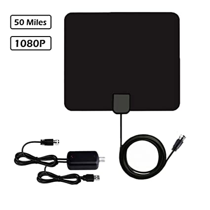 Wishpower HDTV Antenna with 11FT Coaxial Cable, Detachable Amplifier Signal Booster Support 1080P VHF UHF