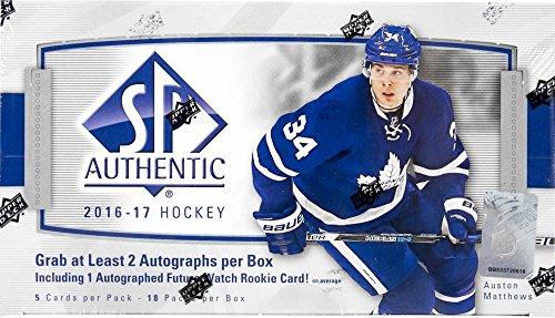 2016/17 Upper Deck SP Authentic NHL Hockey HOBBY box (18 (Nhl Sp Authentic Trading Card)