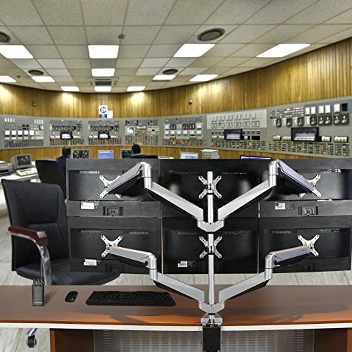 Extension Six Monitor Arm Desk Mounts Stand For 10''-27'' LCD Screens (D7S) by Loctek (Image #3)