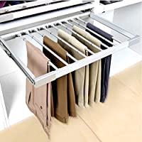 FKhanger Pull Out Pants Rack,Extensible Trousers Hanger Rail with Removable Rods,Organizer Rack for Wardrobe-Depth 48cm (Size : (844-964) 470mm)