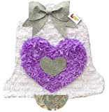 White & Lavender Wedding Bell Pinata 19'' Tall Pull Strings Style