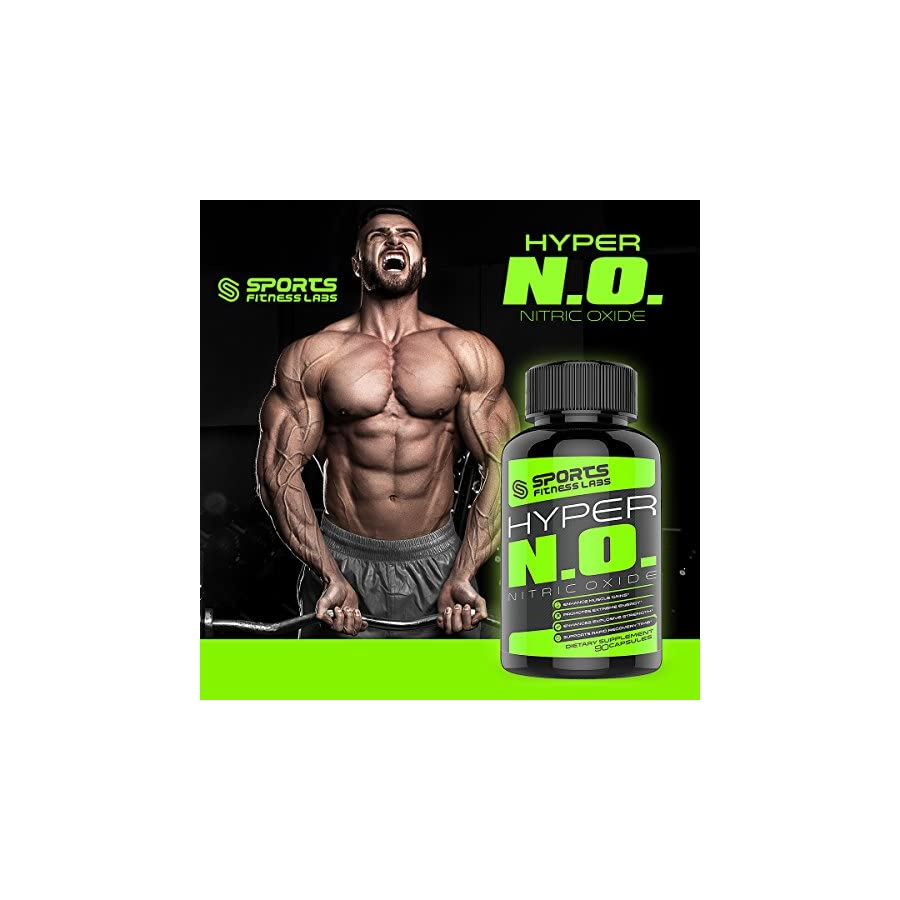 Nitric Oxide Booster with AAKG L Arginine, L Glutamine, and Amino Acids by Sports Fitness Labs An All Natural Pre Workout Supplement Best for Extreme Energy, Maximum Muscle Building, and to Burn Fat