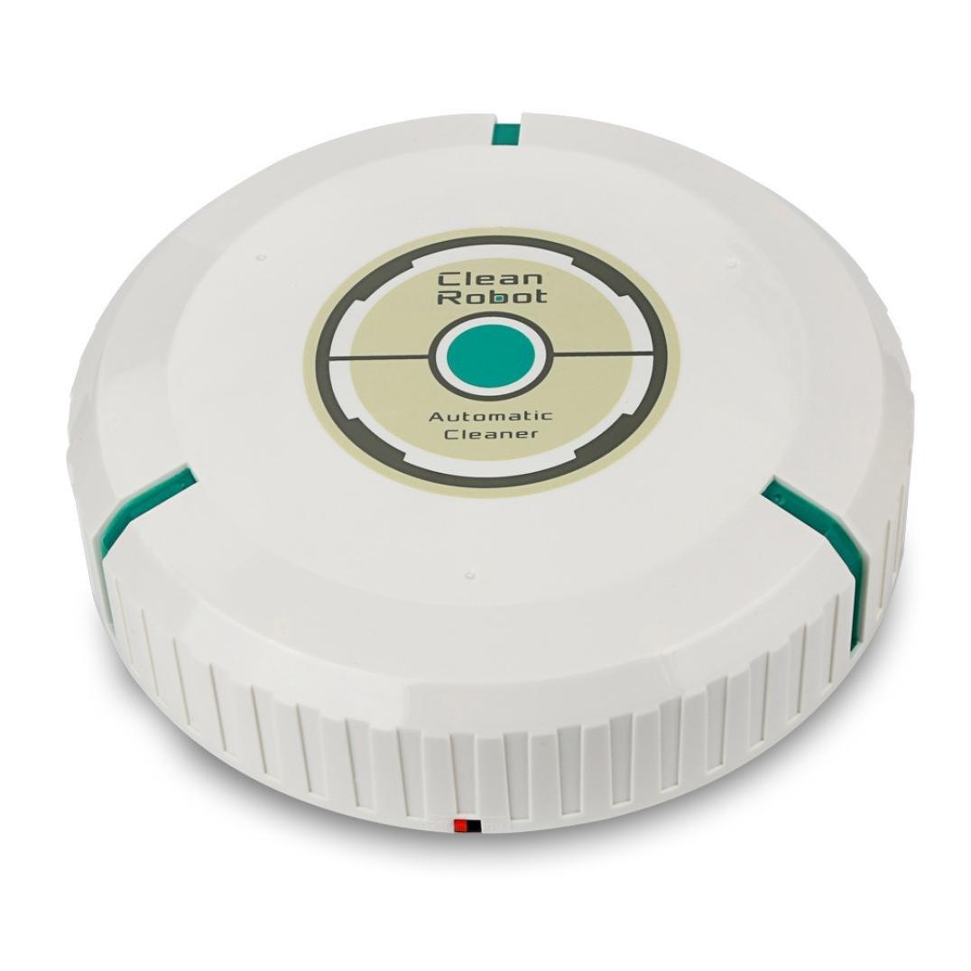 Quiet Vacuum Sweeps Cleaner HP95(TM) Intelligent Robotic Vacuum Cleaner Automatic Mini Sweeping Machine (White)
