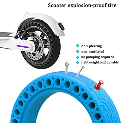 8.5 Inch Solid Tire Front/Rear Tires Replacement for Xiaomi Mijia M365 Electric Scooter(Blue) : Sports & Outdoors