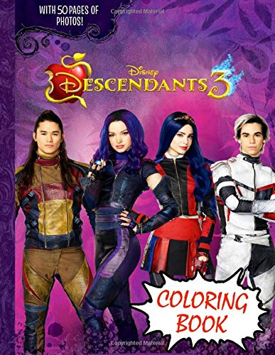 Descendants 3 Coloring Book Jumbo Descendants 3 Coloring Book With 50 Plus Premium Images For Kids And Adults Vol 2 Jackson Hugh 9781700578747 Amazon Com Books