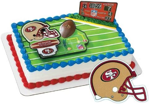 Awesome Amazon Com San Francisco 49Ers Football Cake Layon Toys Games Personalised Birthday Cards Paralily Jamesorg