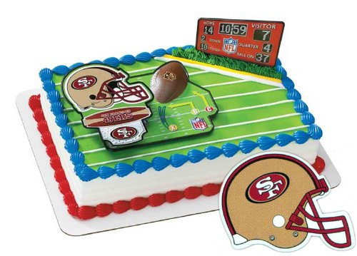 San Francisco 49ers Football Cake Layon -