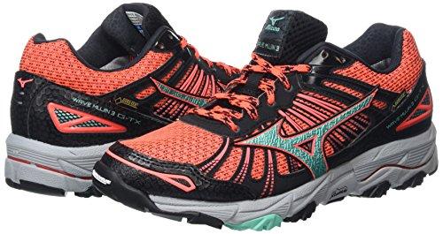 3 G Rosa Pink fiery Mujer Running tx Para Zapatillas Mujin black electric Coral Mizuno De Wave Green g1nxRtwE