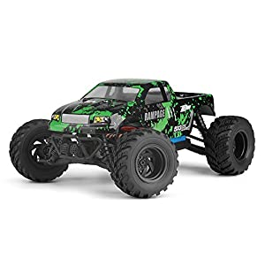 HBX 1:18 Scale All Terrain RC Car 18859E, 30+ KM/H High Speed 4WD Electric Vehicle with 2.4 GHz Radio controller, Waterproof Off-road Truck Included Battery and Charger(Green/Red)