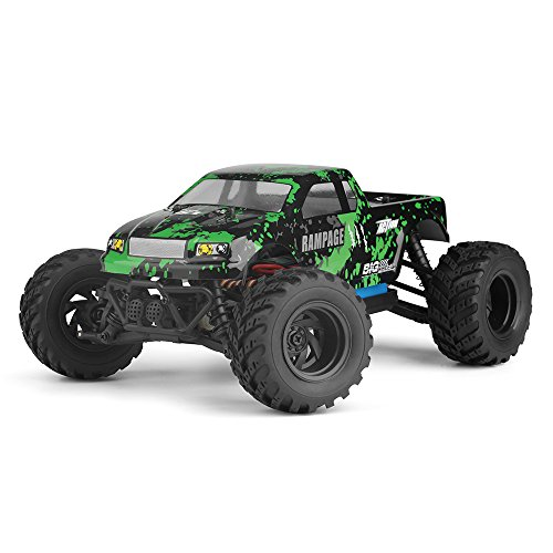 HBX 1:18 Scale All Terrain RC Car 18859E, 30+MPH High Speed 4WD Electric Vehicle with 2.4 GHz Radio controller, Waterproof Off-road Truck Included Battery and Charger(Green/Red) (4 Wheel Drive Truck Parts)