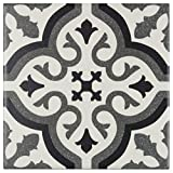 tile floor patterns MTO0234 | Modern Square Black Grey White Porcelain Mosaic Tile