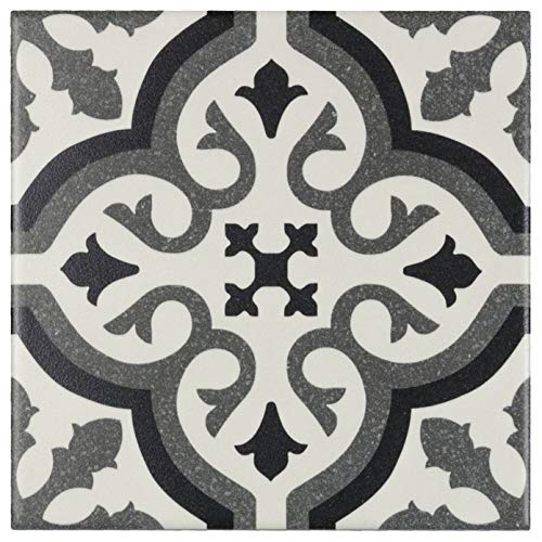 MTO0234 | Modern Square Black Grey White Porcelain Mosaic Tile