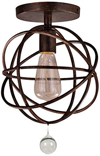 Crystorama 9220-EB Solaris - One Light Flush Mount, English Bronze Finish