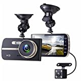 Dash Cam, EIVOTOR 1080P HD Dual Channel Dashboard Cameras Front and Rear, Driving Video Recorder with 4.0'' IPS Screen, Built In G-Sensor, Motion Detection, Loop Recorder
