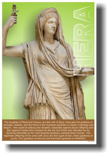 Ancient Greece: Greek Mythology, the Goddess & Wife of Zeus, Hera, Classroom Poster
