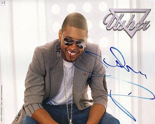 Usher Bling Autographed Preprint Signed ()