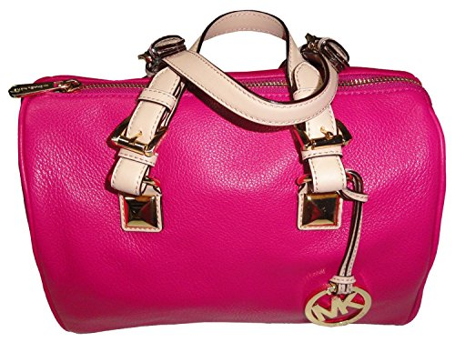 michael-kors-grayson-medium-satchel-leather-fuschia