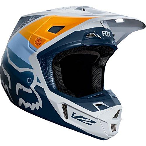 (Fox Racing V2 Murc Men's Off-Road Motorcycle Helmet - Light Gray/Large)